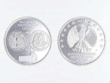 Universität Leipzig 10 € Silber, PP