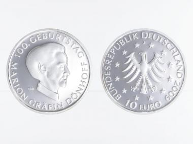 Marion Gräfin Dönhoff 10 € Silber, PP