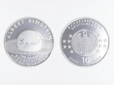 Albert Einstein 10 € Silber, PP