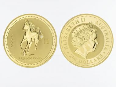 Australien 200 $ Lunar I Pferd, 2 Unzen  2002