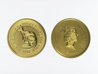 Australien 5 $ Nugget Känguru, 1/20 Unze 1994