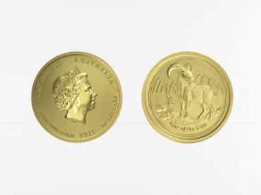 Australien 25$ Lunar II  Ziege, 1/4 Unze  2015