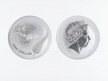 Neuseeland 1$ Kiwi 2011, 1 oz  Silber
