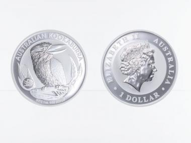 Australien 1$ Kookaburra 2012 Privy Drache, 1 oz  Silber