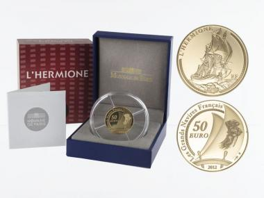 Frankreich 50 Euro Gold, 2012, Hermione