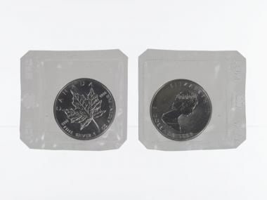 Kanada 5$ Maple Leaf 1988, 1 oz  Silber Folie