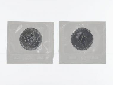 Kanada 5$ Maple Leaf 1990, 1 oz  Silber Folie