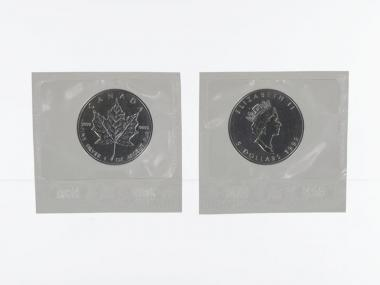 Kanada 5$ Maple Leaf 1992, 1 oz  Silber Folie