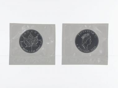 Kanada 5$ Maple Leaf 1994, 1 oz  Silber Folie