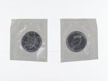 Kanada 5$ Maple Leaf 1996, 1 oz  Silber Folie