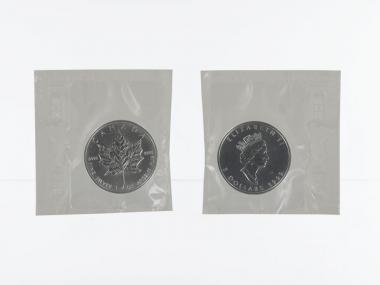 Kanada 5$ Maple Leaf 1999, 1 oz  Silber Folie