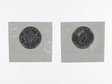 Kanada 5$ Maple Leaf 2002, 1 oz  Silber Folie