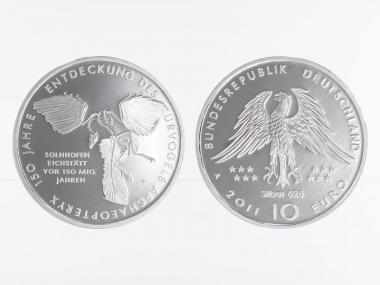Urvogel Archaeopteryx 10 € Silber 2011, PP