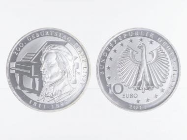 Franz Liszt 10 € Silber 2011, PP