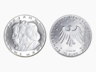 Brüder Grimm 10 € Silber 2012, PP