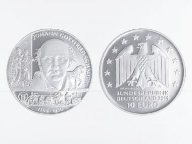 Gottfried Schadow 10 € Silber 2014, PP