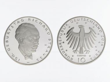 Richard Strauss 10 € Silber 2014, PP