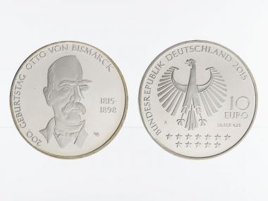 Otto von Bismark 10 € Silber 2015, PP