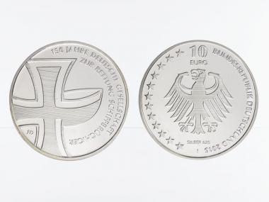 Rettung Schiffbrüchiger 10 € Silber 2015, PP