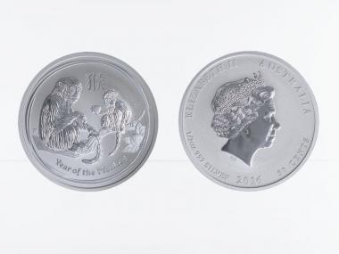 Australien 1/2$ Affe Lunar II  2016, 1/2 oz  Silber