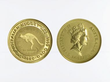 Australien 5 $ Nugget Känguru, 1/20 Unze 1990