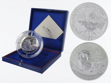 Frankreich 20 €  Reise zum Mittelpunkt der Erde 2006 PP, Silber