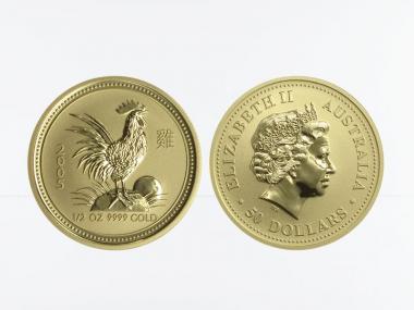 Australien 50 $ Lunar I Hahn, 1/2 Unze  2005