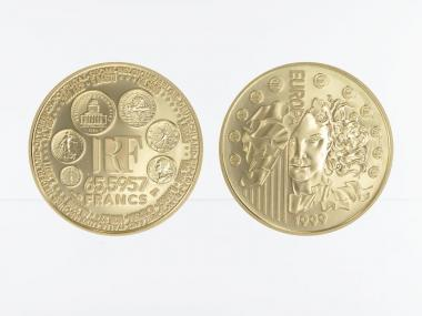 Frankreich 65,59 FF Gold, 1999, Europa
