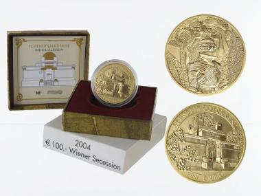 Österreich 100 Euro Gold, 2004, Wiener Secession,