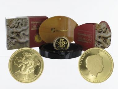 Australien 100 $ Lunar II  Drache, 1 Unze  2012, PP (B+C)