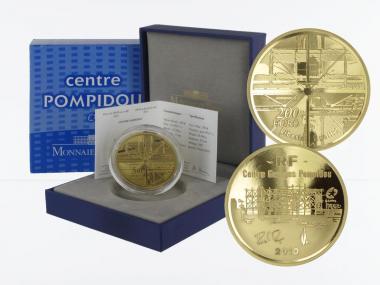 Frankreich 200 Euro Gold, 2010, Centre Pompidou
