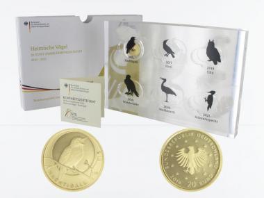 BRD 20 Euro Gold, 2016 J,  Heimische Vögel Nachtigall