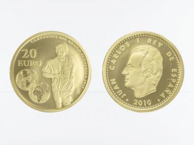 Spanien 20 Euro Gold, 2010, Fußall WM 2010 in Südafrika