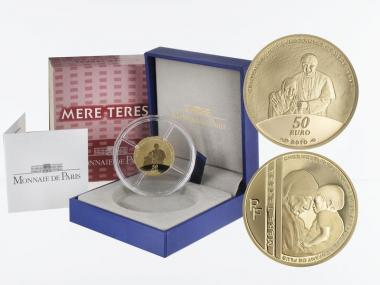 Frankreich 50 Euro Gold, 2010, Mutter Theresa