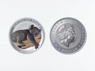 Australien 1$ Koala 2012, 1 Unze  Silber coloriert