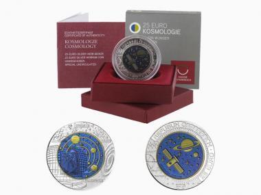 Österreich 25 Euro Niob, Kosmologie 2015