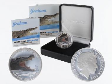 Australien 1$ Saltwater Crocodile (RAM), Graham 2014, PP
