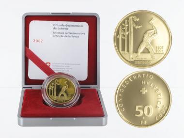Schweiz 50 Franken Nationalbank 2007, proof