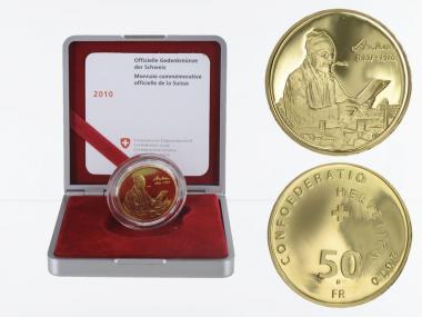 Schweiz 50 Franken Albert Anker, 2010, proof