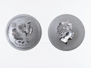Australien 1/2$ Hahn Lunar II  2017, 1/2 oz  Silber
