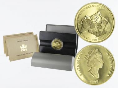 Kanada Neufundland 100 Dollars 1999,  proof