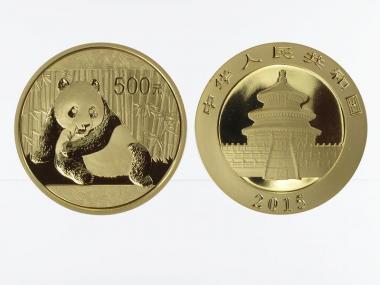 China 500 Yu  Panda 2015, 1 Unze Feingold