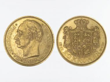 Dänemark Frederik VIII  1911, 20 Kroner Gold