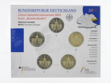 2016 Dresdner Zwinger (5) A D F G J kpl. Stgl., Blister