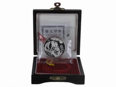 China 10 Yu Panda  1993, 1 oz  Silber PP