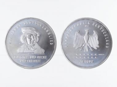 20 € 175 Jahre Deutschlandlied  Silber 2016