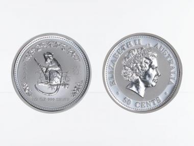 Australien 1/2$ $ Affe Lunar I  2004, 1/2 oz  Silber