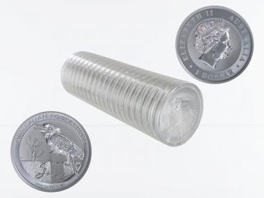 Australien 1$ Kookaburra 2016, 20x 1 oz  Silber