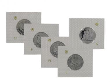 Karl der Große 2000 (5), 10 DM Silber, PP Folie kpl.