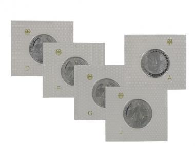 250. Todestag J.S. Bach 2000 (5), 10 DM Silber, PP Folie kpl.